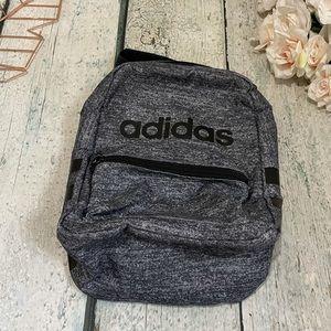 Adidas lunch kit bag cooler travel school gray black pockets zipper mesh active